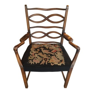 Antique Needlepoint Armchair