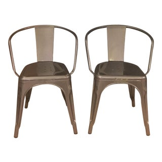 Industrial Arm Chairs - Pair