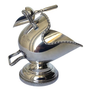 English Silver Plate Salt Cellar with Scoop