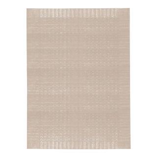 Gray Contemporary Hand Woven Rug - 6′9″ × 9′10″