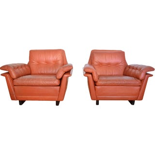 Kurt Østervig Rosewood & Leather Chairs -A Pair