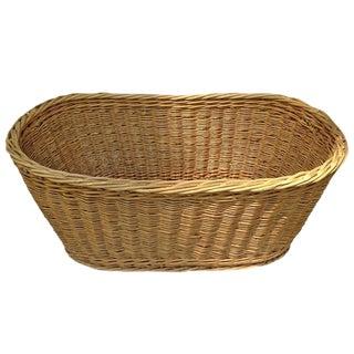 French Oval Woven Wicker Basket