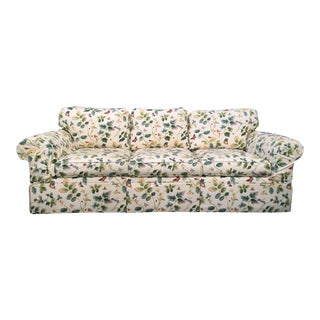 Botanical Butterfly Garden Spring Down Sofa in the Manor of Dorothy Draper