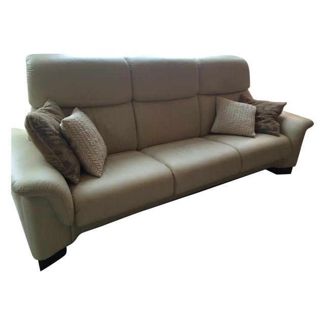 Ekornes Stressless Paradise 3 Seat Leather Sofa - Image 1 of 3