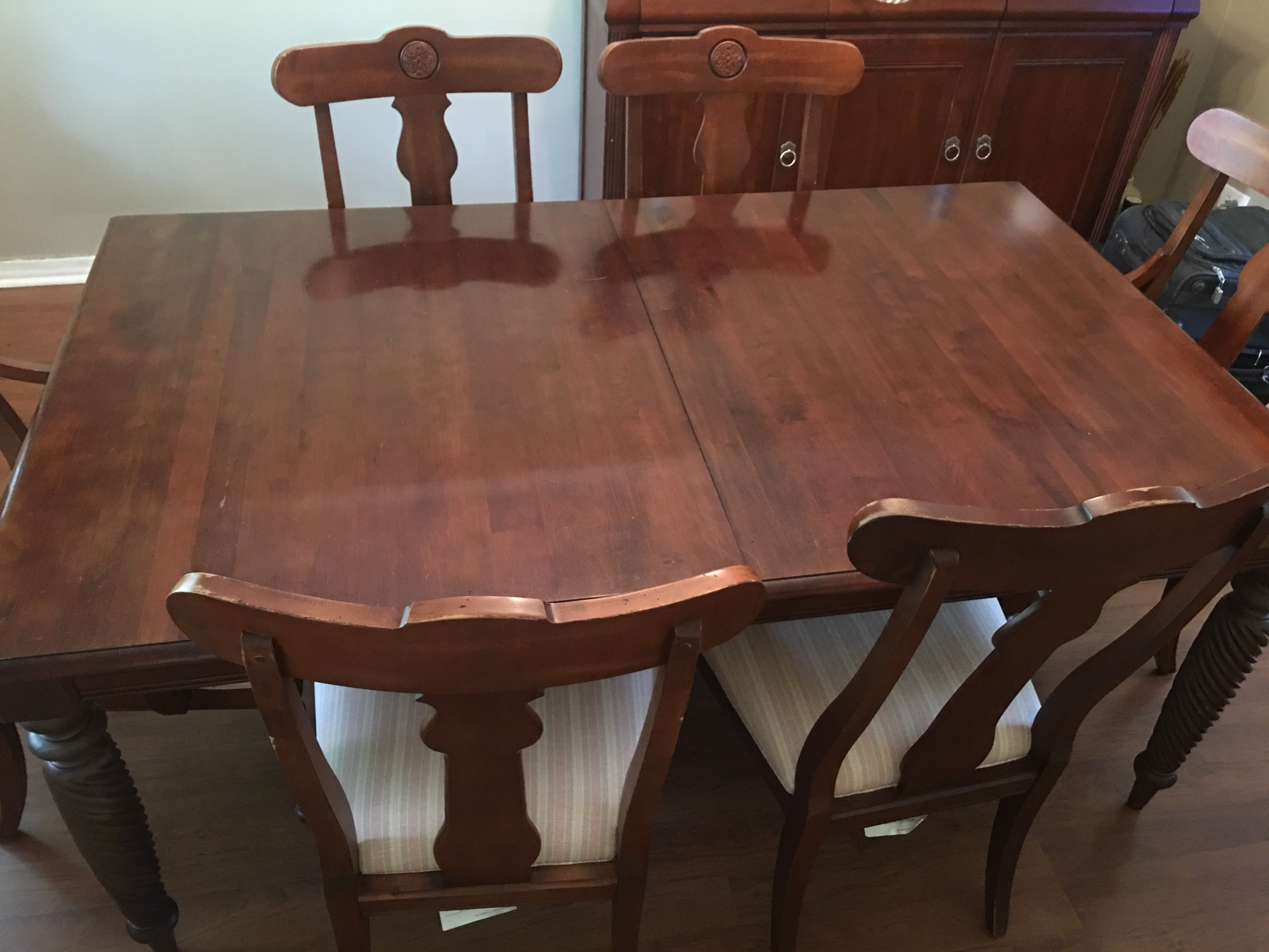 7 Piece Ethan Allen British Classic Dining Set   Image 8 Of 11