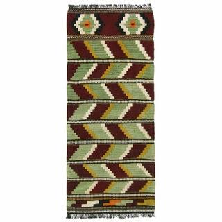 Vintage Zigzag Kilim Yastik - 1'9'' x 4'1''