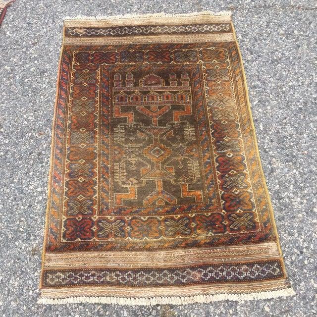 Antique Turkoman Rug: Vintage Persian Turkoman Rug