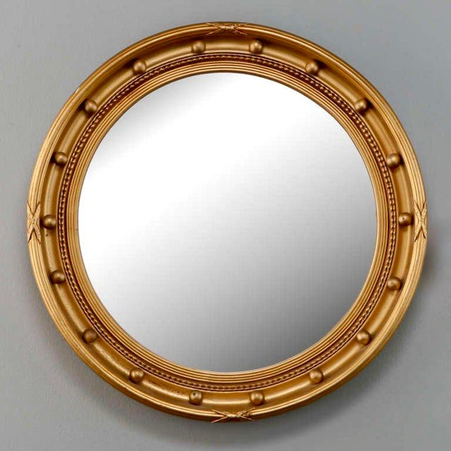 1920s Gilded Round Frame Mirror with Beaded Trim - Image 2 of 4