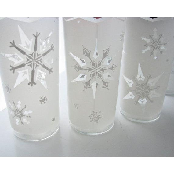 Mid-Century Snowflake Drinking Glasses - 6 - Image 6 of 6