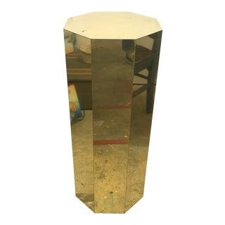 C Jeré Octagonal Brass Pedestal