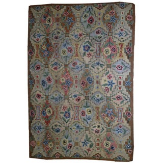 1900s Antique American Hooked Rug- 6' x 8'10""
