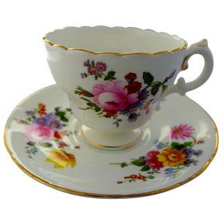 English Floral Tea Cup & Saucer