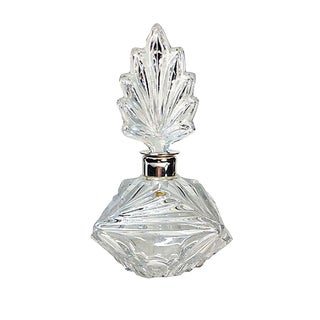 Clear Press-Cut Perfume Bottle