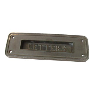Vintage Cast Metal Mail Slot