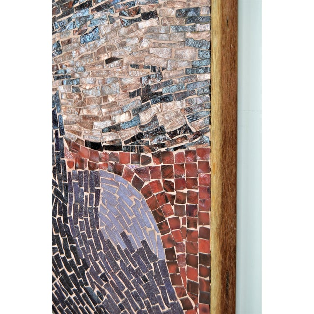 Cubist Glass Mosaic Wall Sculpture - Image 8 of 11