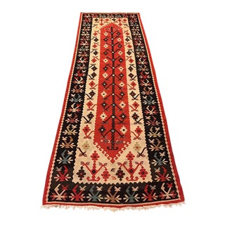 "Vintage Turkish Anatolian Runner Rug - 3'4"" X 9'4"""
