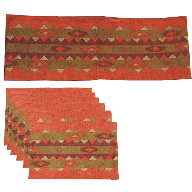 Image of Table Runner & Placemats Southwest - Set of 7