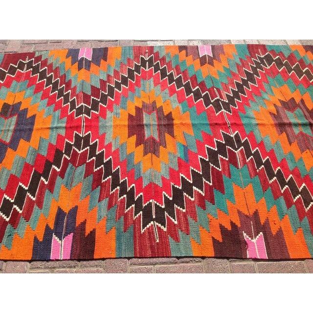 Image of Vintage Turkish Kilim Rug - 5′ × 9′5″
