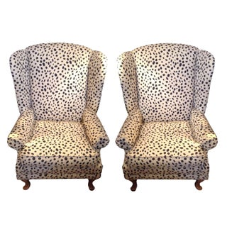 Polka Dot Wingback Chair
