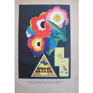 1920s French Art Deco Poster, Apricot Brandy And Various Ads, Tip On