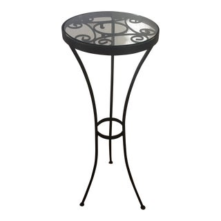 Black Decorative Wrought Iron Plant Stand
