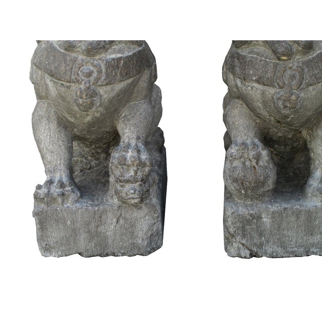 Vintage Stone Foo Dogs- A Pair - Image 6 of 6