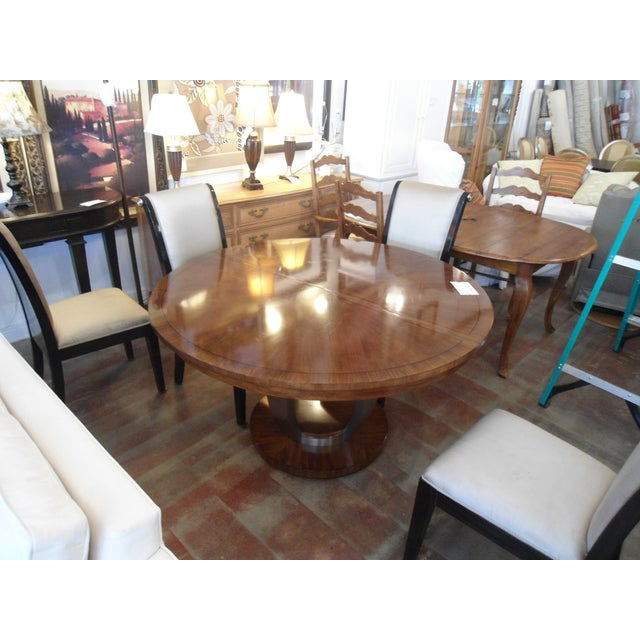 Drexel Heritage Round Dining Table W 18 Leaf Chairish