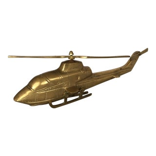 Polished Solid Brass Helicopter