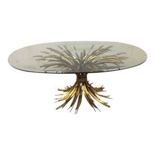 Oval Gold Leaf Wheat Sheaf Coffee Table