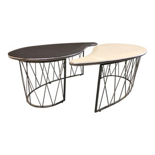 Michael Amini Yin Yang Cocktail Tables - A Pair
