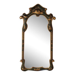 Vintage Chinoiserie Gilt & Lacquered Mirror
