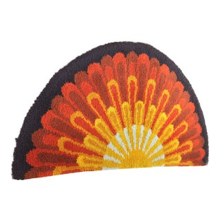 Mid-Century Modern Radial Textile Art - 2′6″ × 4′8″