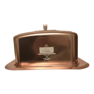 West Bend Copper Metal Cake Server