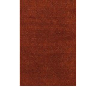 """Modern Hand-Loomed Wool Area Rug - 5' 3"""" X 8' 0"""""""