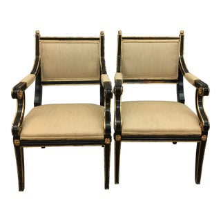 Traditional Regency Chairs - A Pair