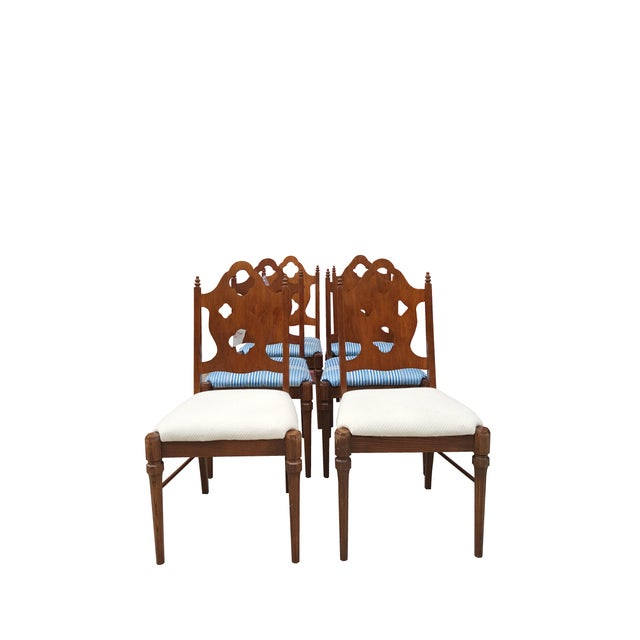 Image of Neoclassical & Gothic Dinning Chairs - Set of 6