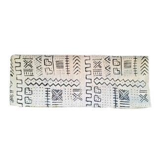 """Vintage White Mud Cloth Fabric - 4'6"""" x 4'6"""""""