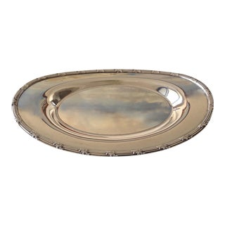 English Victorian Silver Plate Server, Bread Dish