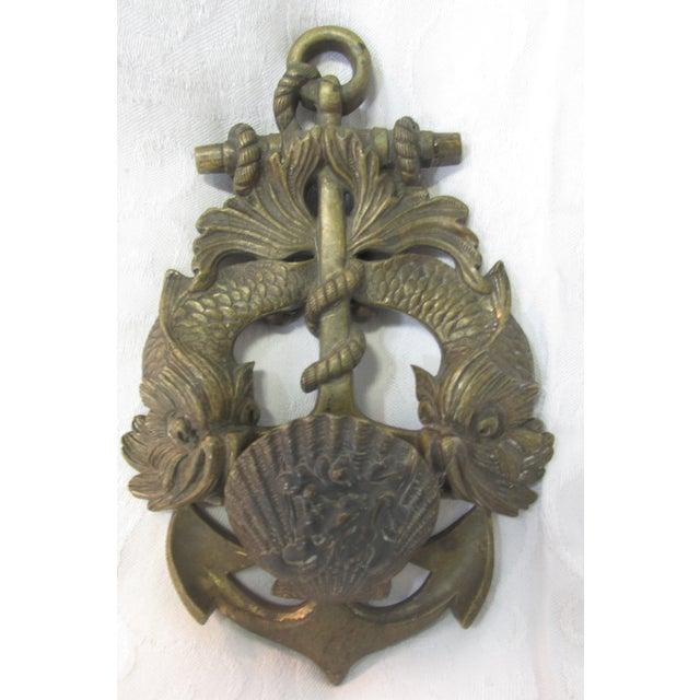 Vintage nautical brass door knocker chairish - Nautical door knockers ...