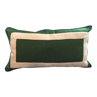 Green & White Lumbar Pillow