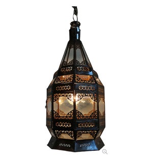 Clear Glass Hanging Lantern