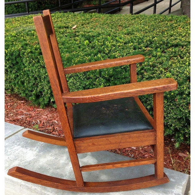 Image of Antique Wakefield Co Mission Child's Rocking Chair