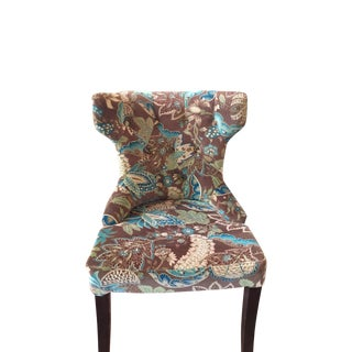 Hourglass Peacock & Floral Dining Chair