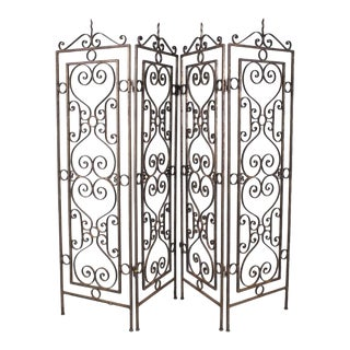 Wrought Iron Trellis or Area Divider