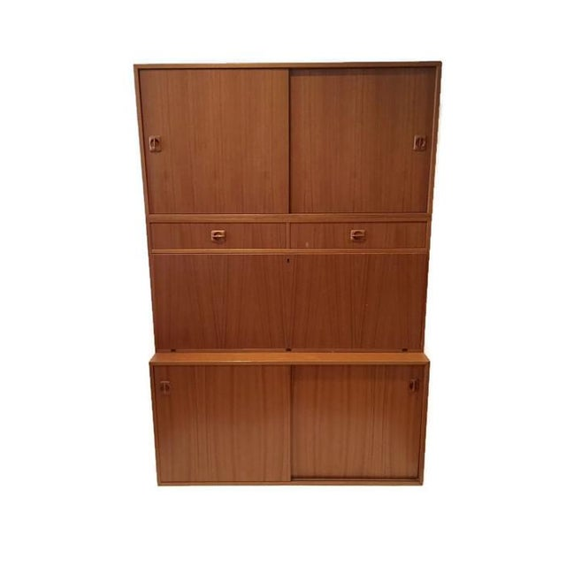 Mid Century Teak Modular Wall Unit Desk or Bar - Image 2 of 9