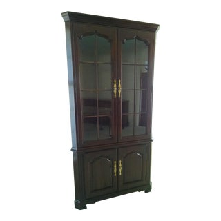 Solid Cherry Thomasville Collector's Corner China Cabinet
