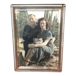 Antique Desert Couple Hand Colored Photo