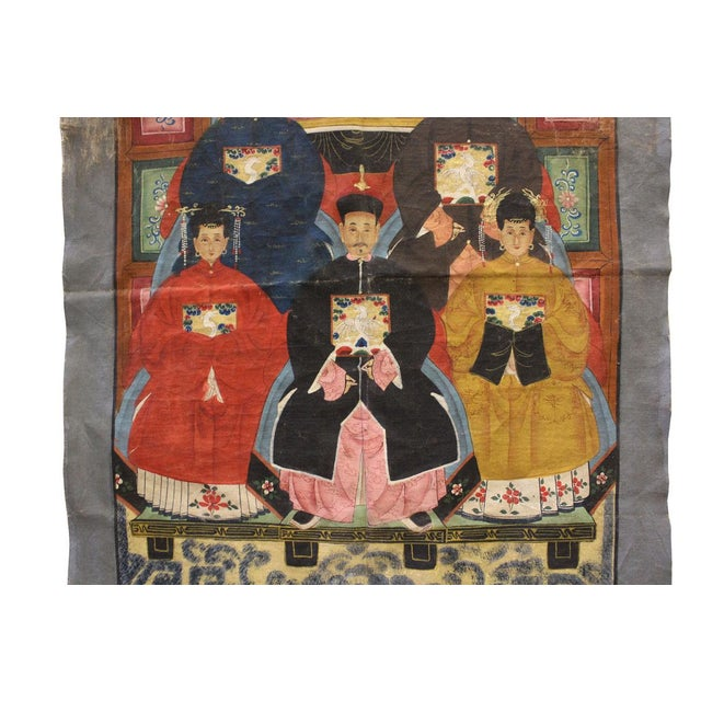 Vintage Chinese Canvas Artwork - Image 4 of 6