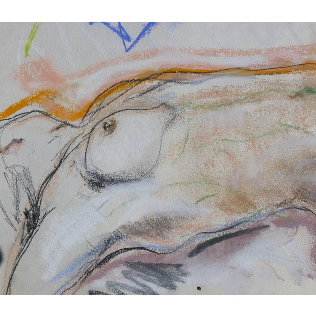Sunbather Pastel Drawing on Paper - Image 2 of 3