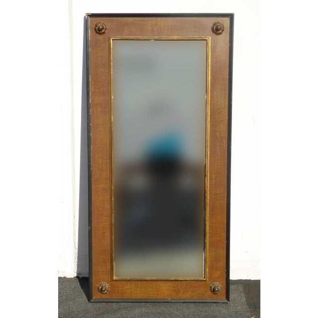 Vintage traditional brown gold full length wall mirror for Full length wall mirror